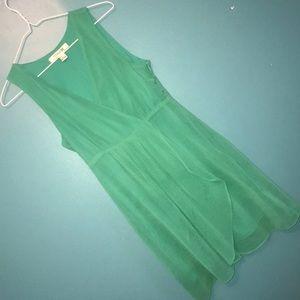 👗 pretty sea green f21 faux wrap dress 👗